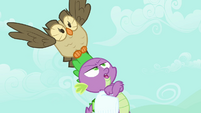 Spike and Owlowiscious -this better be important- S03E11