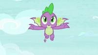 Spike flying through the air S8E24