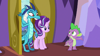 Spike invites Ember to a welcoming banquet S7E15