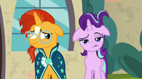 Starlight blows her mane out of her face S8E8