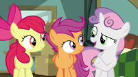 "Sweetie Belle ""we're the only three ponies"" S9E12"