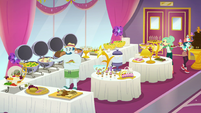 Wide view of the Luxe Deluxe buffet room EGSB