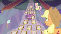 Applejack congratulating Fluttershy MLPS3