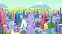 Mane 6 and Spike arrive in the Crystal Empire S4E25