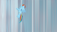 Rainbow Dash rising into the air S8E12