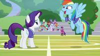 "Rainbow Dash shouting ""game on!"" S8E17"