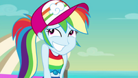 Rainbow grins with embarrassment again EGSB