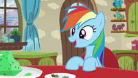 Rainbow thanks Mr. and Mrs. Shy for dinner S6E11