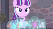 Starlight still has the Mane Six's cutie marks S5E2.png