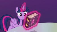 Twilight Sparkle levitating the friendship journal S7E14