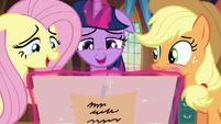 Twilight and Fluttershy gush from the cuteness S5E19
