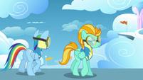 Animation error Rainbow Dash upper mane S3E07