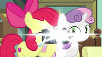 Apple Bloom taking a picture S9E12