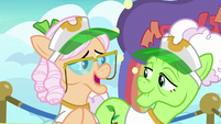 Apple Rose suggests the rainbow fountains S8E5