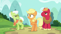 Applejack directs Granny to the back of the hospital S6E23