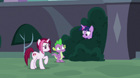 Cayenne notices Twilight in the bushes S9E5