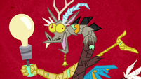 Discord lamp with red background S4E22