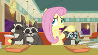 Fluttershy puts her hoof on Smoky Jr. --so they were temporarily camped out-- S6E9