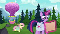 """Fluttershy straining """"we'll know very, very soon"""" S5E23"""