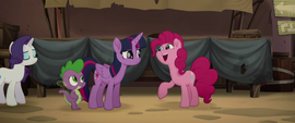 Pinkie Pie telling Twilight to relax MLPTM