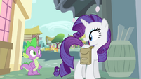 "Rarity ""especially when they're gorgeous ones!"" S4E23"