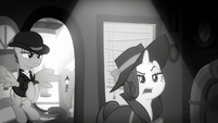 """Rarity """"looking for a pony with information"""" S9E4"""