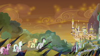Sombrafied ponies marching on Canterlot S9E2