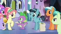 Spike and Crystal Hoof give out autographs S6E16