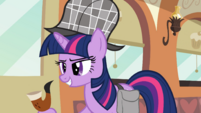 Twilight with deerstalker hat S2E24