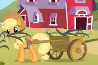 Applejack zrywa kukurydzę.JPG