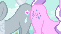 Diamond Tiara and Silver Spoon show off cutie marks S4E05