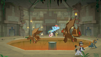 Guardian-goyles chase and attack ponies S9E21