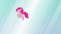 Pinkie Pie about to throw files S5E19