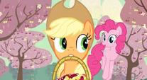 Pinkie Pie annoys Applejack cherry changa S2E14