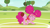 Pinkie Pie bumps softball with her rump S6E18