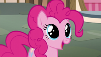Pinkie Pie with wide eyes S5E22