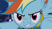 Rainbow Dash prepares to attack S4E02