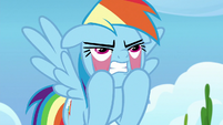 Rainbow Dash pulling on her face S9E26