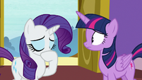 Rarity clearing her throat S9E19