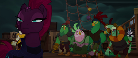 Tempest smirks confidently; pirates look worried MLPTM