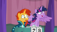 Twilight Sparkle thinking of an answer S9E16