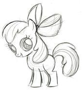 Apple Bloom Sketch
