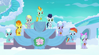 Filly Rainbow in fourth place at award ceremony S7E7
