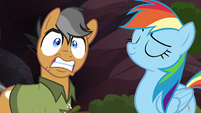 Quibble Pants frightened and excited S6E13