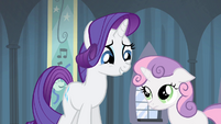 Rarity forgiving Sweetie Belle S4E19
