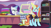 Sassy Saddles relieved to see box of sapphires S7E6