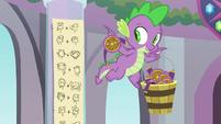 Spike holding a magic shield S8E15