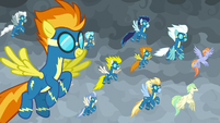 Wonderbolts and Hippogriffs arrive to fight S9E25