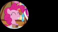 Pinkie Pie grins during iris in S5E19