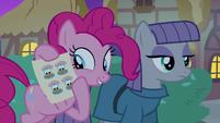 Pinkie Pie holding pie stickers S8E3